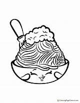 Coloring Spaghetti Shopkin Netti sketch template