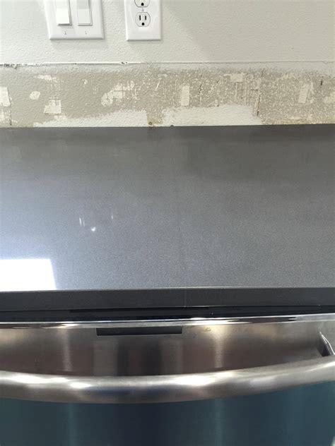 noticeable   seam    quartz counter