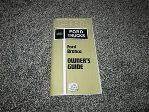 1981 Ford Bronco Owners Guide Manual Original Oem