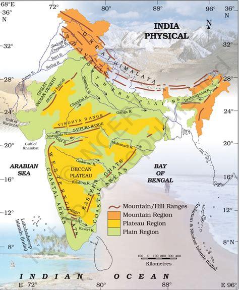 India Physical Map  Ias Abhiyan Ii Upsc Ias Online Preparation