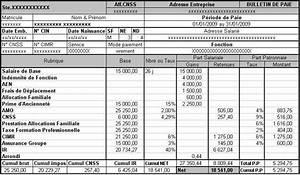 Exemple Bulletin De Paie Avec Indemnité De Licenciement : module de la paie r sum missaoui y 39 s blog ~ Maxctalentgroup.com Avis de Voitures