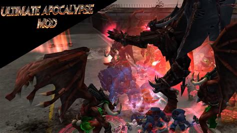 Daemon Fight! Angron Rises!  Dawn Of War Ultimate