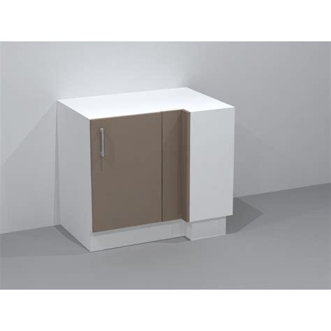 cuisine meuble d angle bas meuble bas d 39 angle avec 2 étagères ouvrant droit