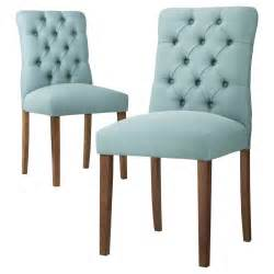 aqua blue brookline tufted dining chair everything turquoise