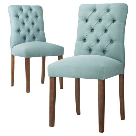 aqua blue brookline tufted dining chair  turquoise