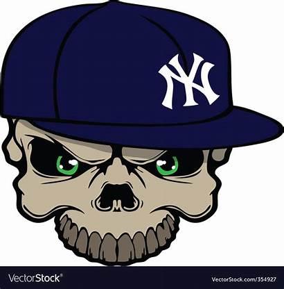 Yankee Skull Vector Vectorstock