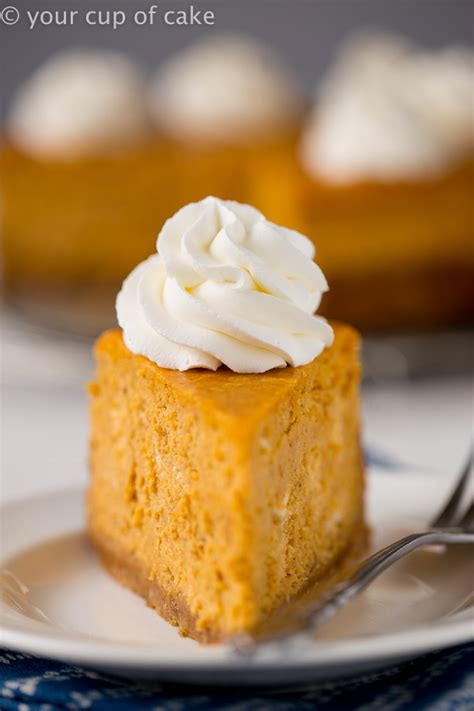 Pumpkin cheesecake when i was young we produced several ingredients for this longtime favorite on the farm. Ultimate Pumpkin Cheesecake - Better than The Cheesecake Factory - Your Cup of Cake