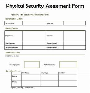 Sample security assessment 6 documents in pdf word for Physical security survey template