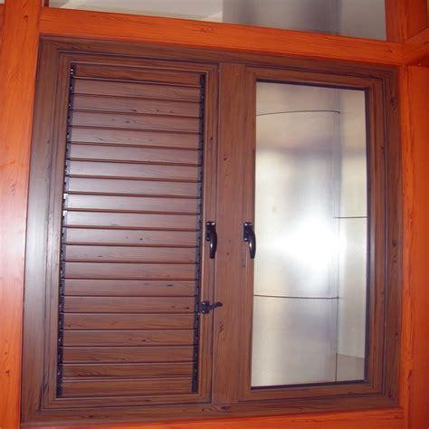 moda moderna de aluminio ventana de persiana de madera de