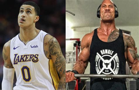 kyle kuzma credits his gain to dwayne johnson s genius talk bso