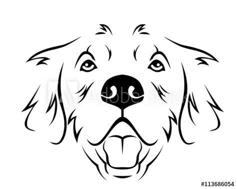dog breed  art logo golden retriever buy