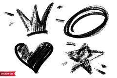 raccolta dei simboli della siluetta della corona illustrazione vettoriale illustrazione di