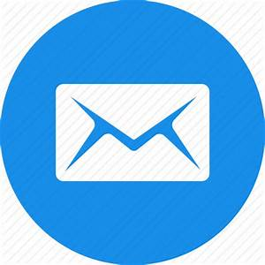 Blue  Circle  Email  Letter  Mail  Message  Messages Icon
