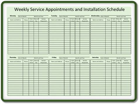 appointment schedulingscheduler templates