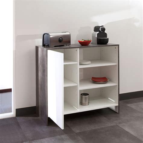 meubles cuisine bas meuble bas de cuisine en bois 1 porte 3 niches edgar béton
