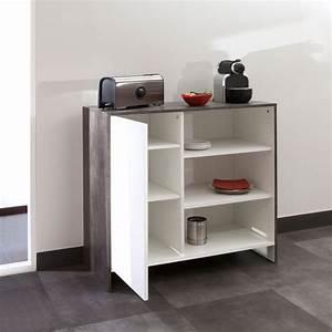 Meuble Bas Porte : meuble bas de cuisine en bois 1 porte 3 niches edgar ~ Edinachiropracticcenter.com Idées de Décoration