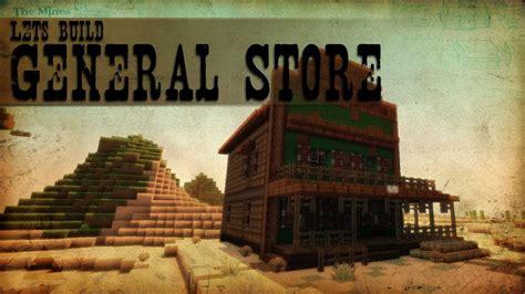 lets build western  general store minecraft speedbuilding youtube