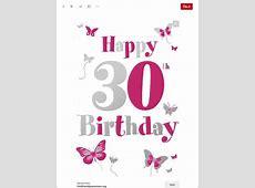 Alles Gute Zum 30 Geburtstag Einladungs Vorlagen