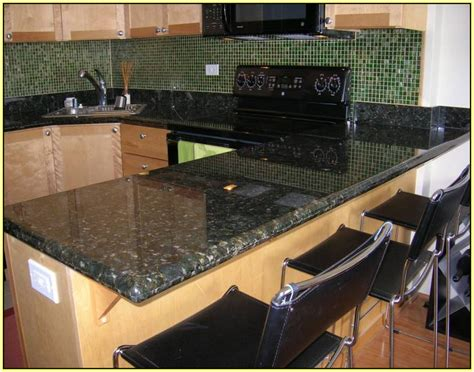 Granite Countertops With Glass Tile Backsplash : Venetian Gold Granite Countertops And Tile Backsplash