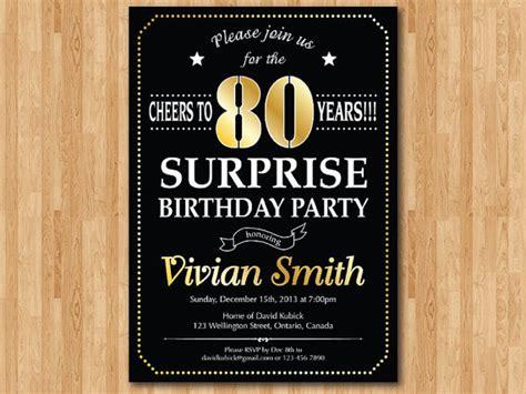 surprise  birthday party invitations dolanpedia
