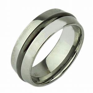 8mm tungsten black ceramic strip wedding ring tungsten With black ceramic wedding rings