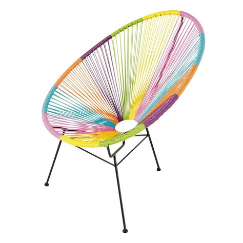 fauteuil de jardin rond multicolore copacabana maisons
