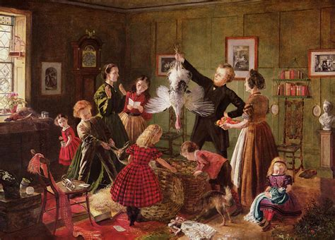 The Christmas Hamper Painting By Robert Braithwaite Martineau