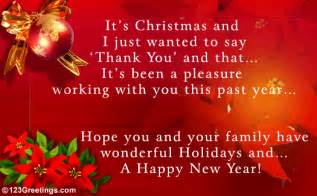 work related christmas message free holiday thank you ecards 123 greetings