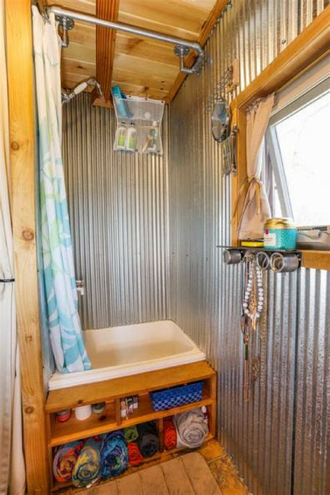 stylish shower panel base ideas   rv tiny home  mobile home innovate building