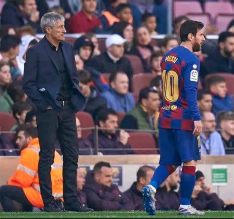Barcelona coach, Quique Setien hits back at Lionel Messi ...