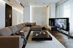 Wohnzimmer Einrichten Ideen In Wei Schwarz Und Grau