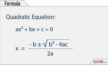 Quadratic Equation Calculator Formula Math Constant Roots