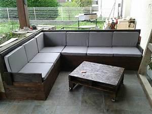 Salon De Jardin En Palette Moderne : salon en palettes ~ Melissatoandfro.com Idées de Décoration