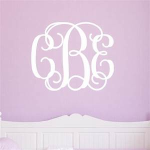 Monogram wall decals 2017 grasscloth wallpaper for Monogram wall decal