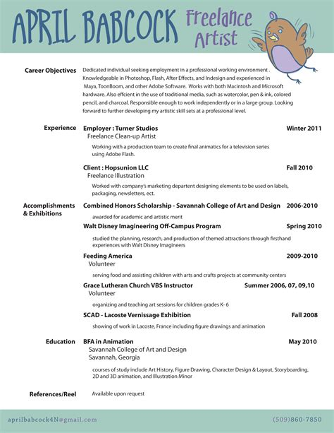 Artist Resume by R 233 Sum 233 April Babcock Concept Artist