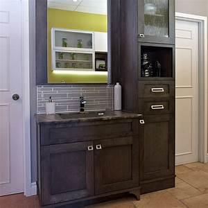 beautiful ensemble vanite armoire images lalawgroupus With armoire de salle de bain bois