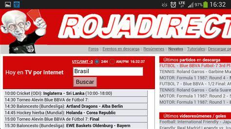 Rojadirecta és el major índex d'esdeveniments esportius del món. Roja Directa per Android - Download