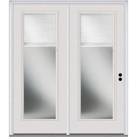 mmi door 60 in x 80 in fiberglass left clear lowe