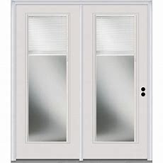 Mmi Door 72 In X 80 In Clear Glass Internal Blinds