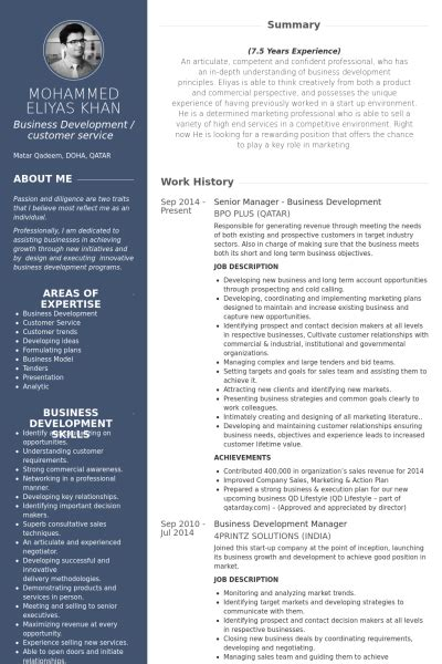 Free Resume Creation by Senior Manager Business Development Resume Exle