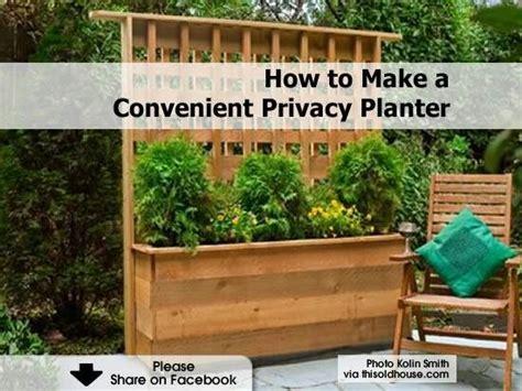 privacy fence planter box garden ideas