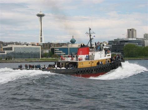 Tugboat Races by Crowley Tug Wins Seattle Maritime Festival Tugboat Race