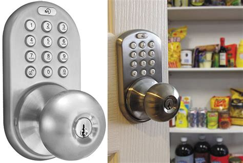 keypad door lock reviews milocks dkk 02sn indoor electronic touchpad keyless entry