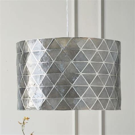 faceted capiz drum pendant west elm