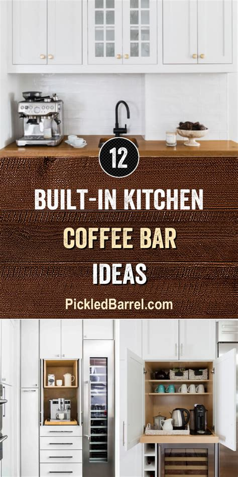 It's my favorite diy budget friendly makeover project so far. Built-in Kitchen Coffee Bar Ideas - Pickled Barrel