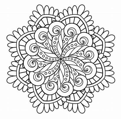 Mandala Simple Coloring Mandalas Unique Clear Very
