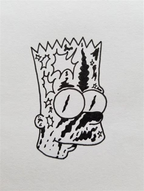 guide  draw bootleg bart simpson quick  easy