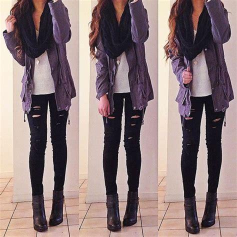 Jeans black ripped scarf jewels jacket shoes t-shirt beautymanifesto coat pants girly ...