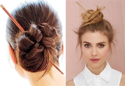 hairstyles with chopsticks 10 japanese top knot with chopstick hairstyles you would