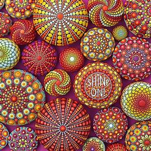 Vibrant, Mandala, Art, Painted, On, Stones, -, My, Daily, Magazine